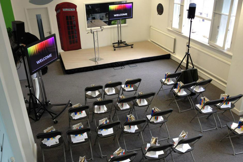 Small Indoor Stage Hire for a Conference in Liverpool