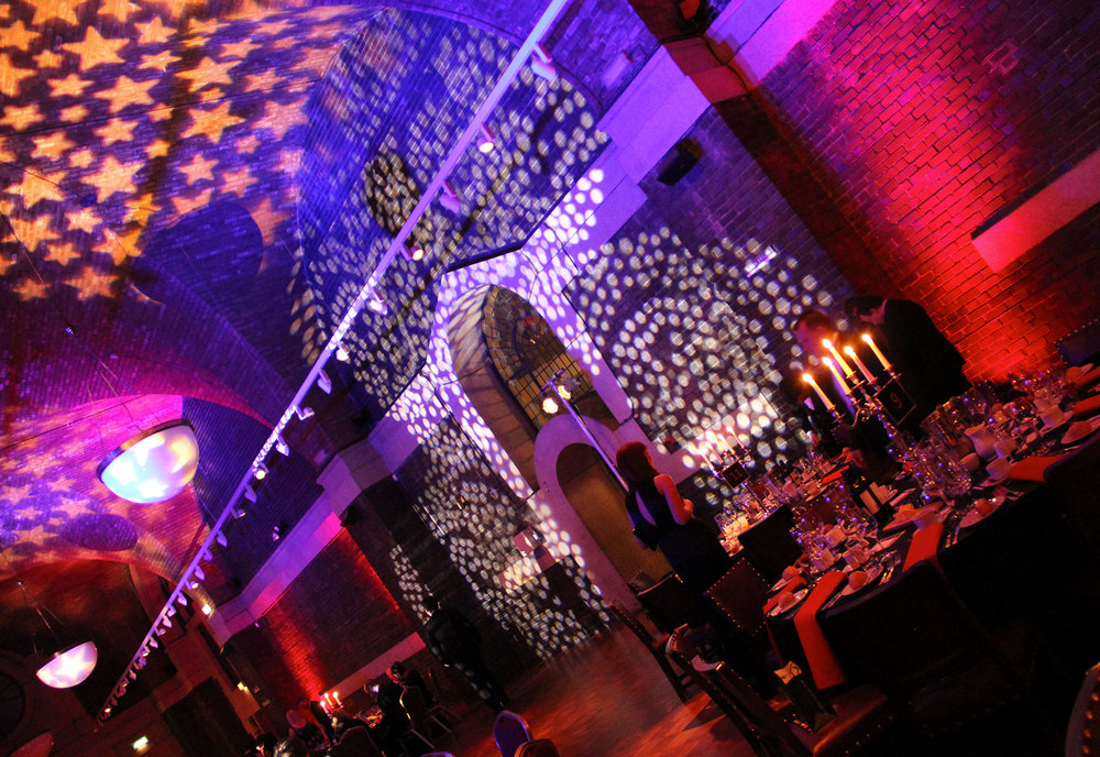 Lighting & AV at Lutyens Crypt for a Charity Ball