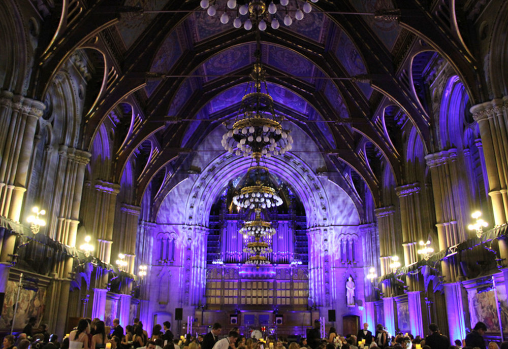 Gala Dinner Lighting at Manchester Town Hall