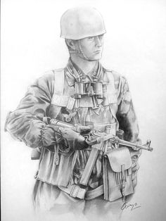 Dibujo de un militar.  VLADIMIR LEDÉVEB / 4EVER / FLICKR.