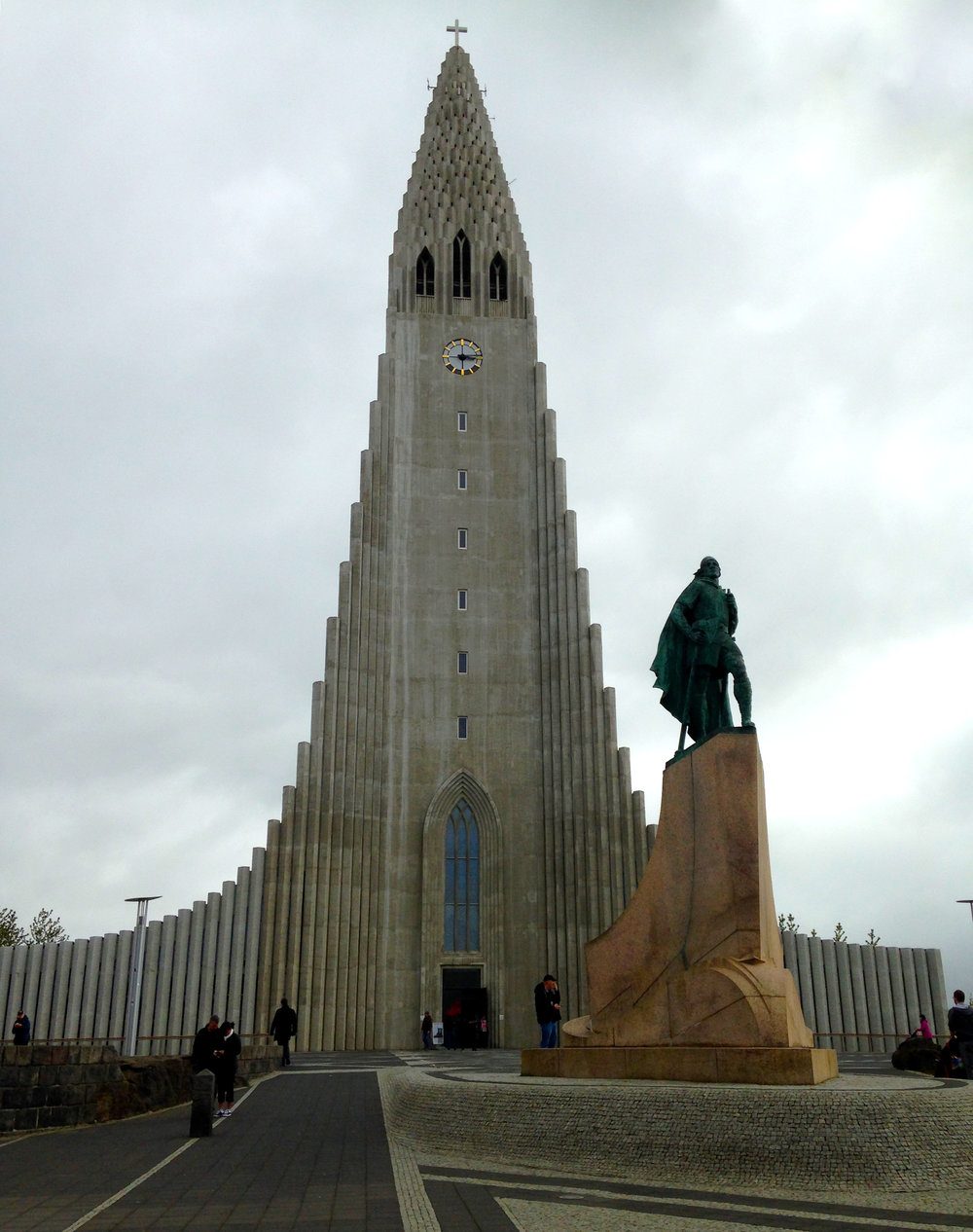 Hallgrimskirkja is massive church that you can take an elevator to the top to see an amazing view of the colorful buildings of Reykjavík.