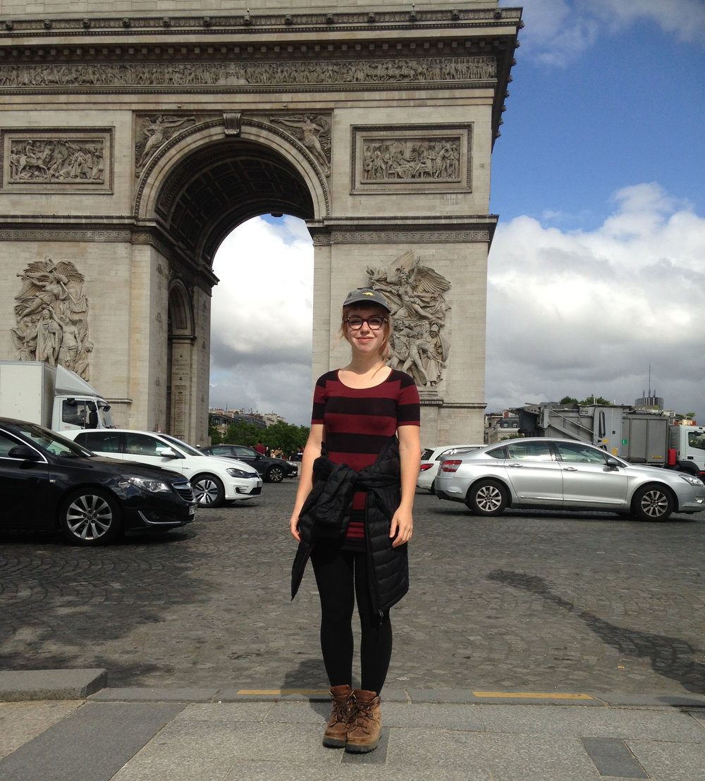 I think this was the only picture I had of myself while in Paris, standing in front of the Arc de Triomphe. My photographer clearly had mad skills.