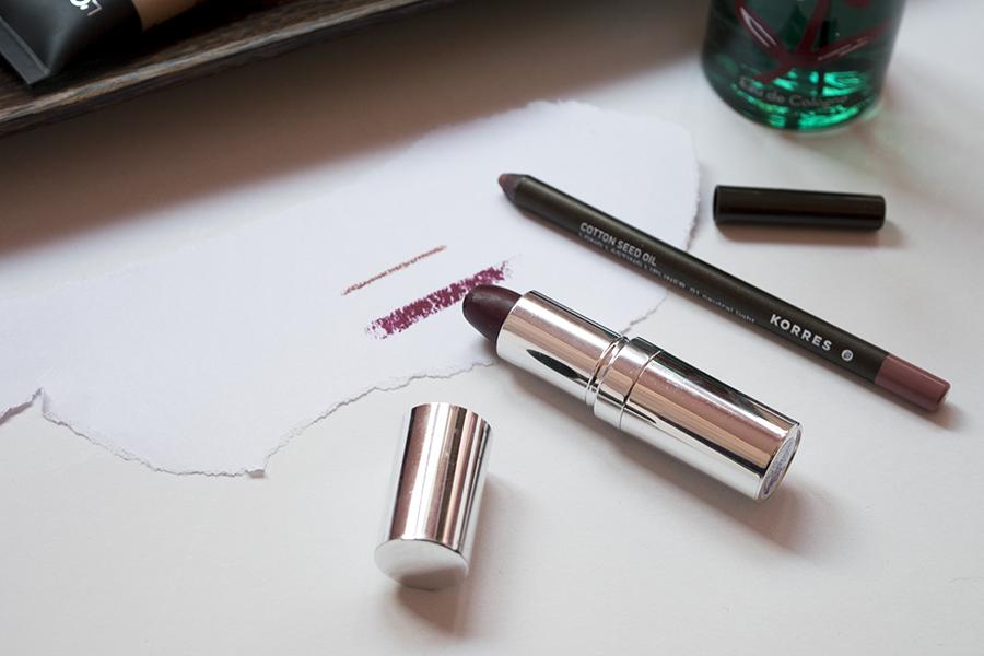 seventeen-plum-lipctick-korres-neutral-light-pencil-swatches