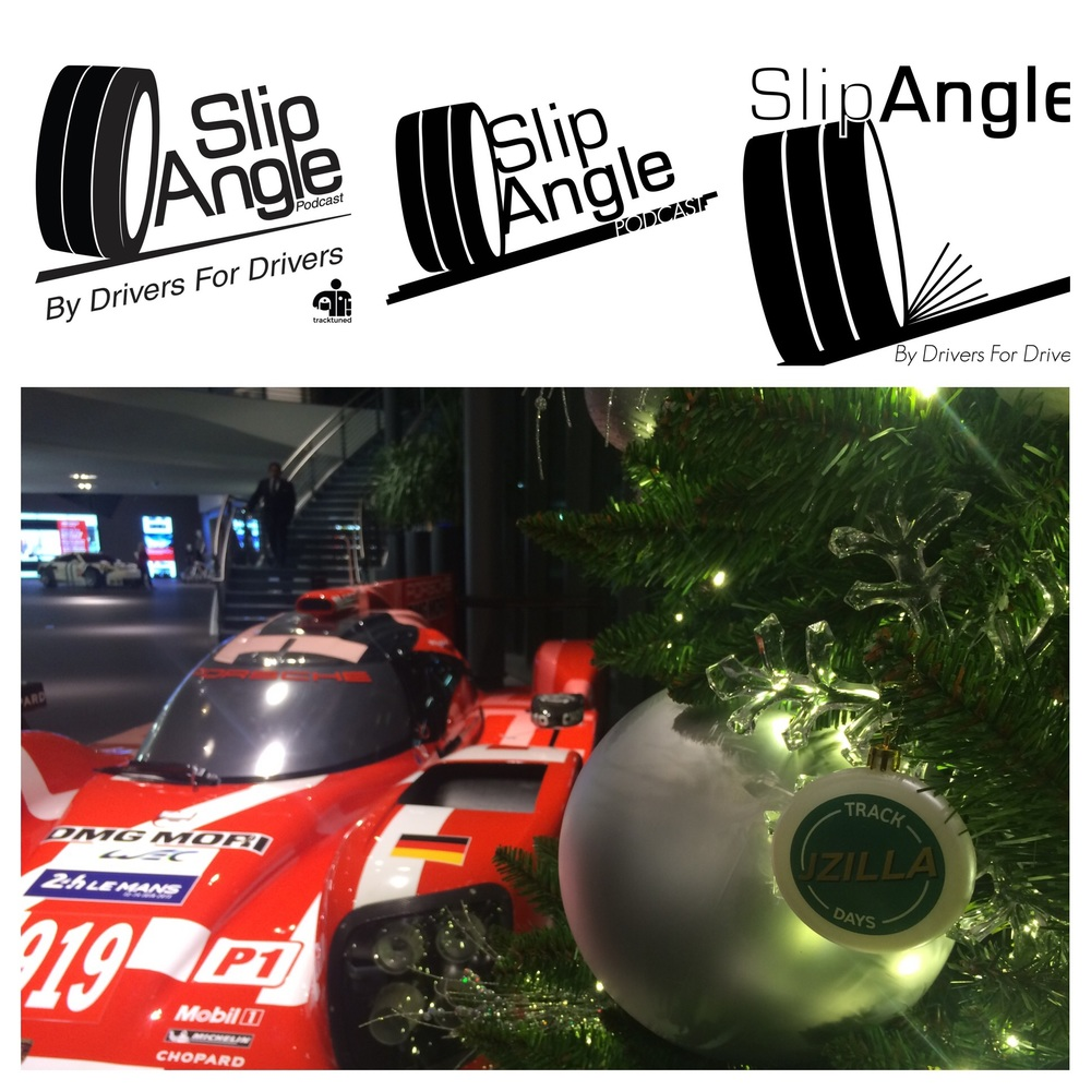 The progression of our SlipAngle logo over the past 6 months, and a Porsche 919 and JZilla Track Days wishing you Happy Holidays!
