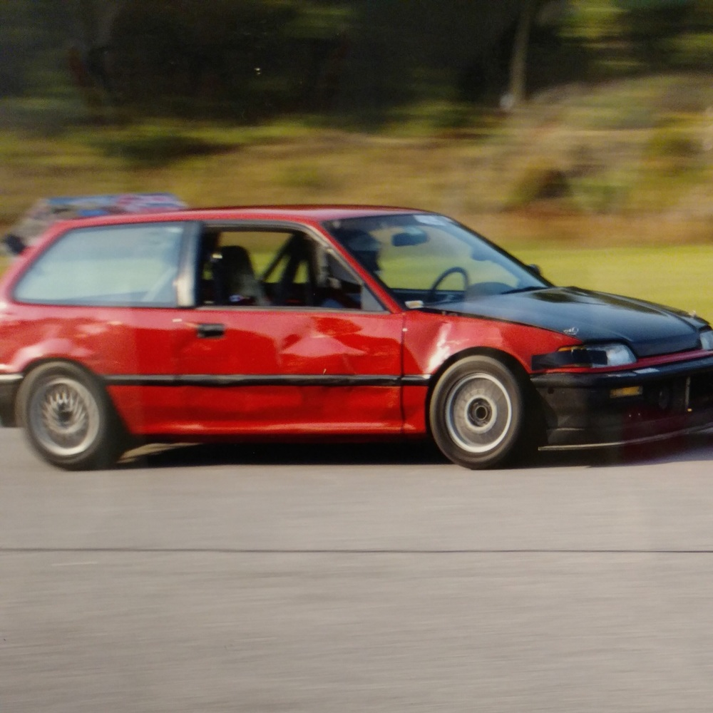 Adam in his trusty old EF Hatch.