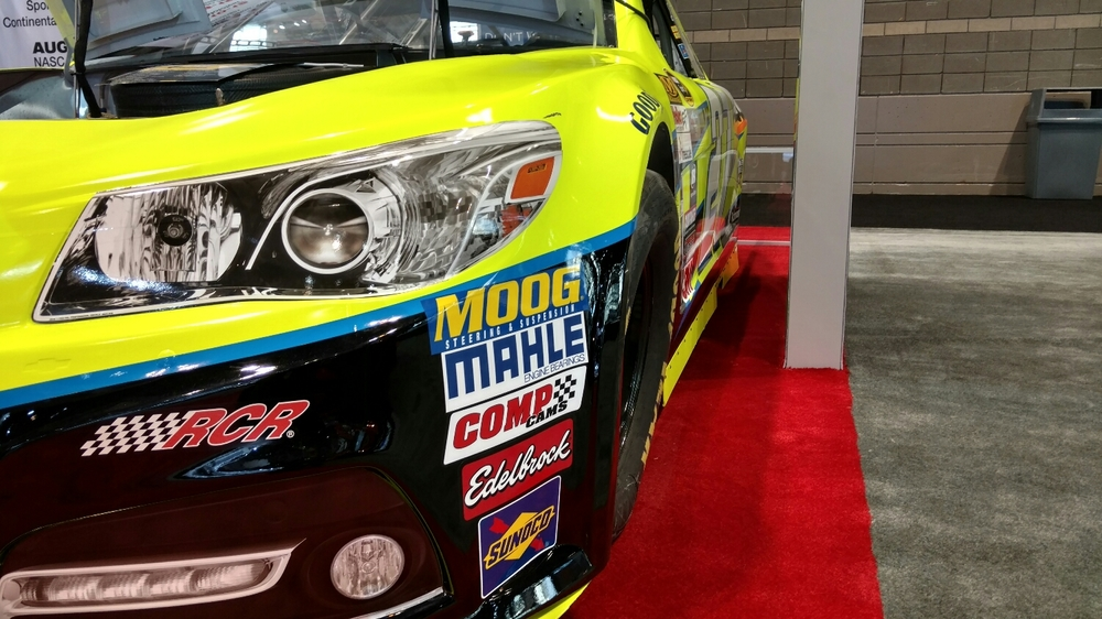 But Paul Menard's stock car clearly didn't have the road course setup dialed in.