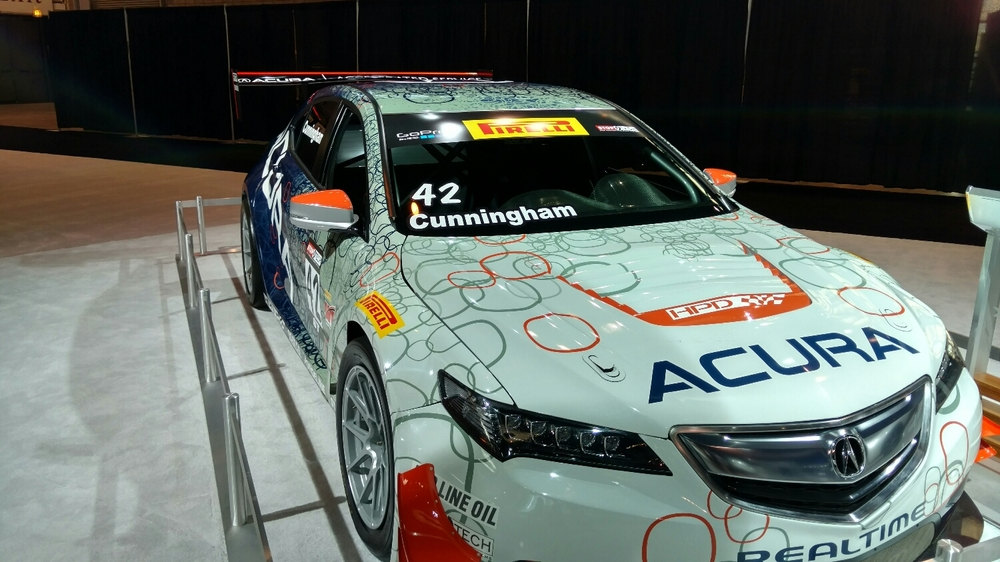 Former Slipangle guest Peter Cunningham and his Realtime Racing team were represented prominently in the Acura booth.