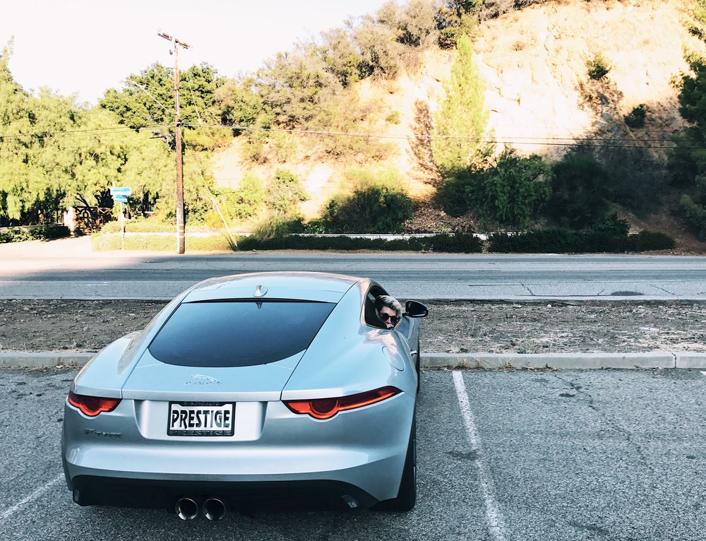 Over-6-foot people rejoice: we fit in the F-Type nicely.