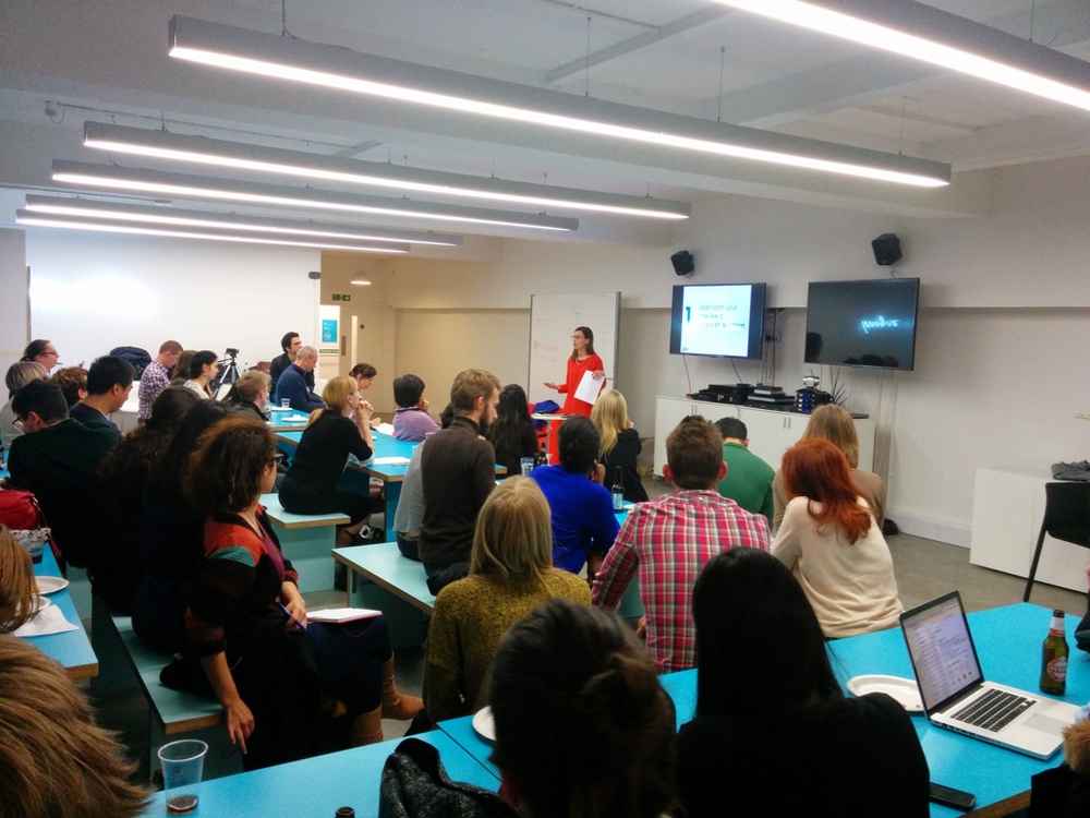 Hosting a UX Industry event at MOO. The Research Thing, November 2014.