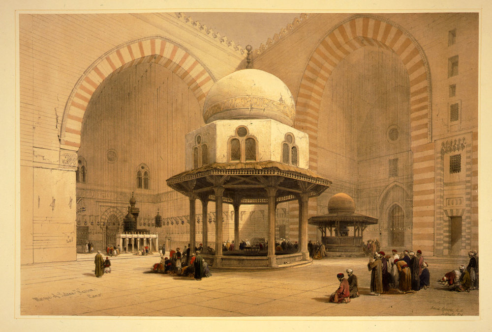 The Sultan Hassan Mosque in Cairo, construction began in 757 AH and it is still operational to this day.
