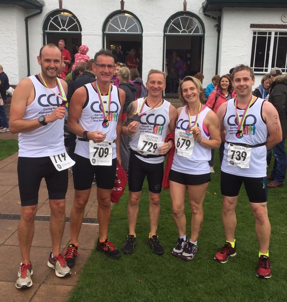 Team Questline at the Cheltenham Triathlon
