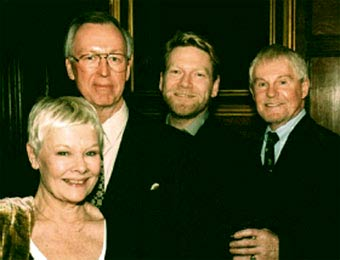 John Andrews (Second to left) with Judy Dench, Kenneth Branagh, and Derek Jacobi.
