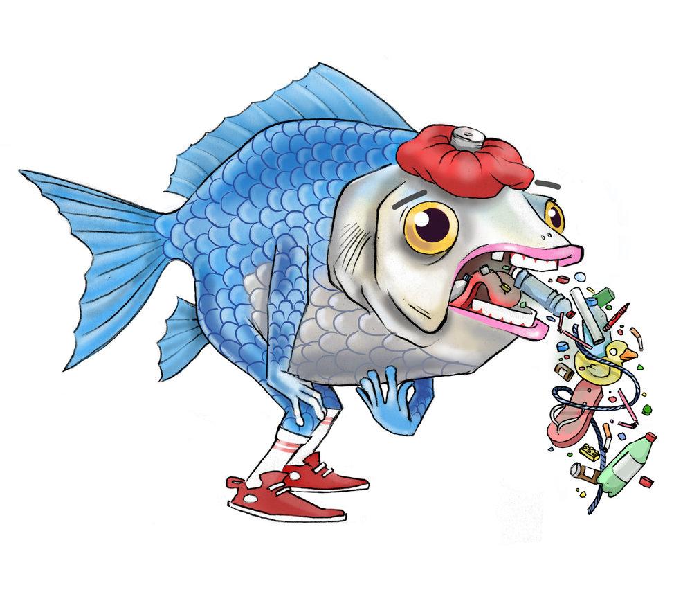"""""""Sick Fish Sticker"""" 2018"""