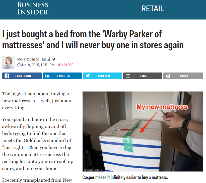 Did   Business Insider   just tell me I should buy a Casper Mattress?