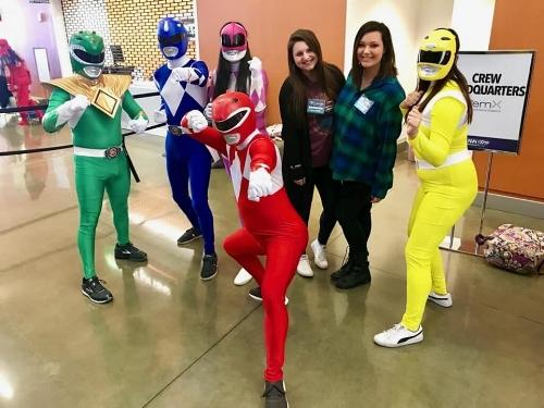 TrizCom PR Account Coordinator's Heather Gilbert and Sara Hughes at Dallas Fan Days 2018.
