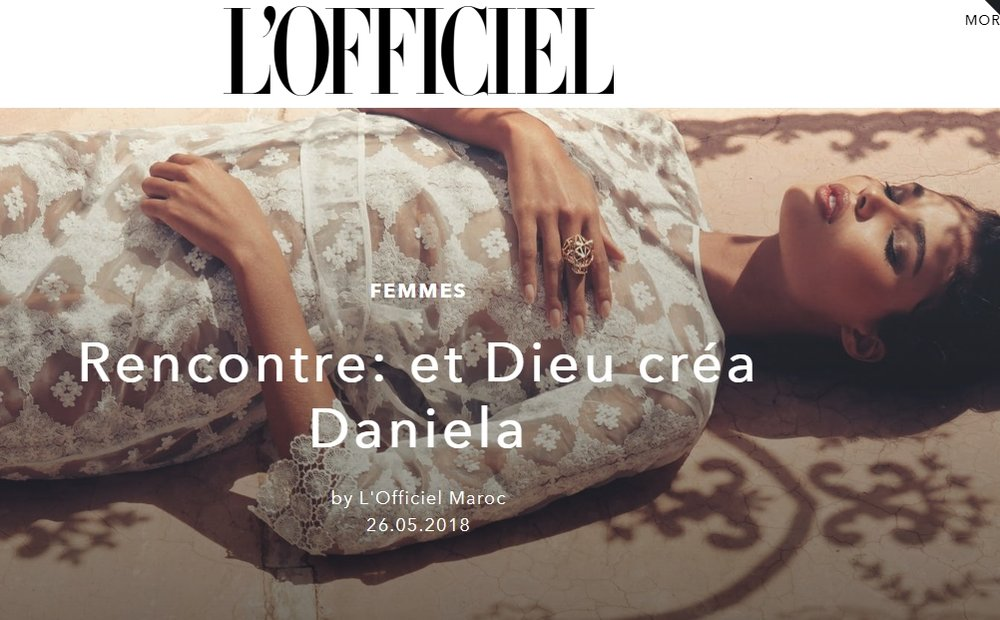 Click here to read the article : https://www.lofficielmaroc.ma/women/rencontre-et-dieu-crea-daniela#image-4515
