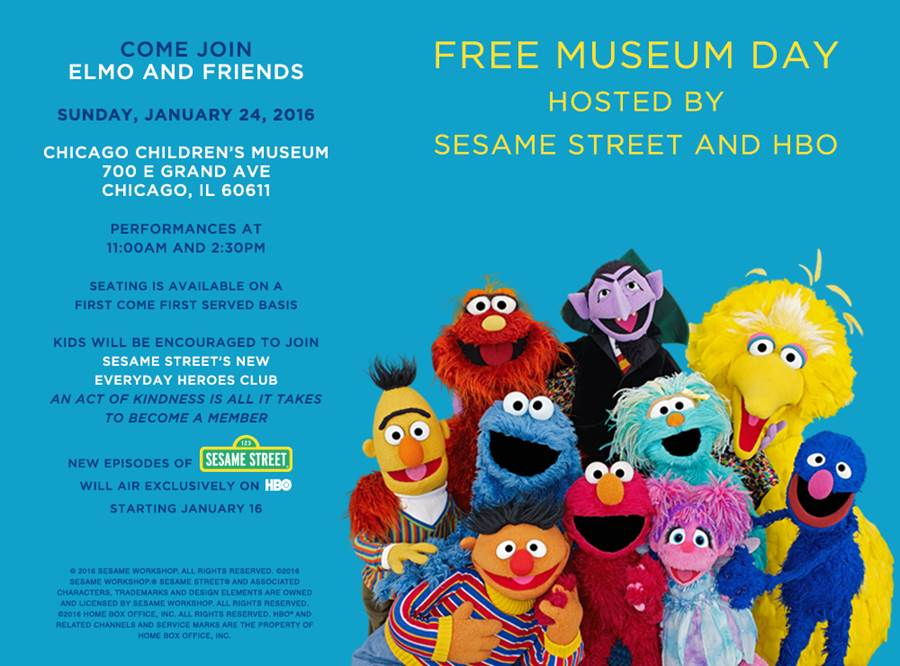 Free Museum Day at Chicago Children's Museum with Sesame Street