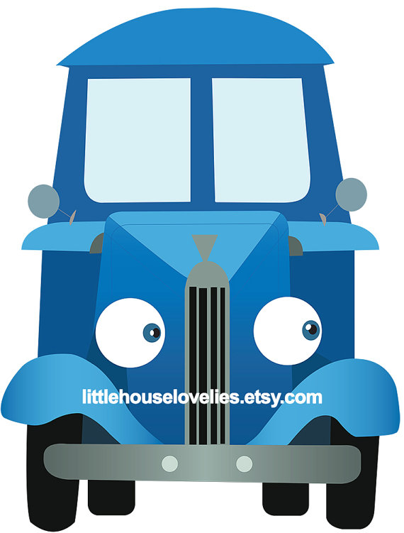 Little Blue Truck Cardboard Cutout - Premium Invitation Template Design | Bliss Escape