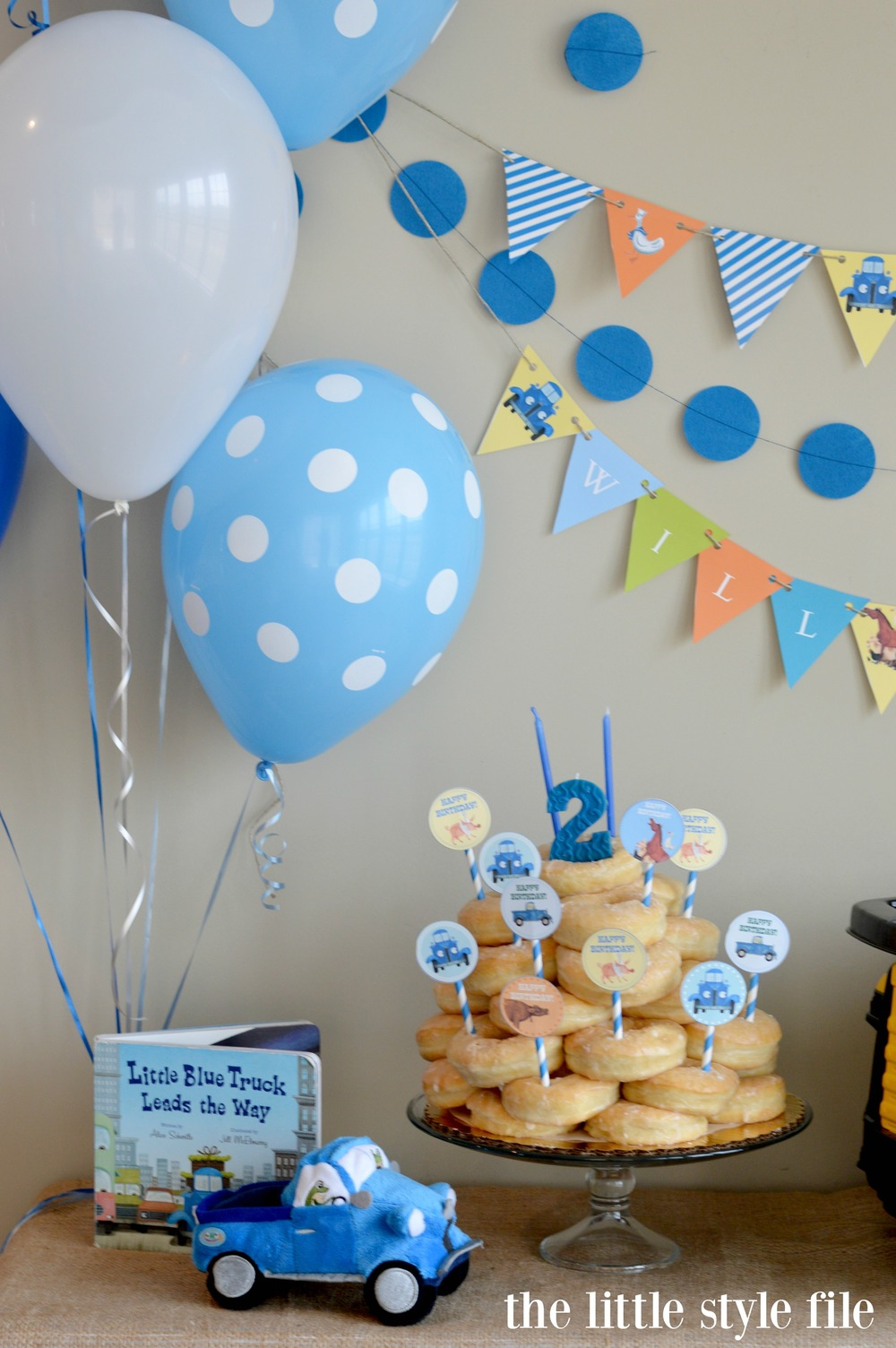 little blue truck birthday party cake.jpg