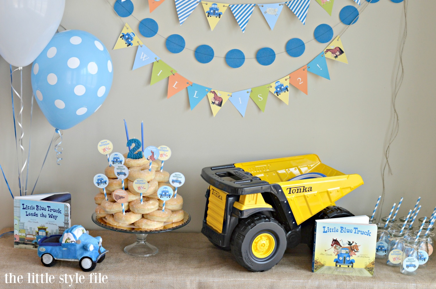 Little Blue Truck Birthday Party The Style File