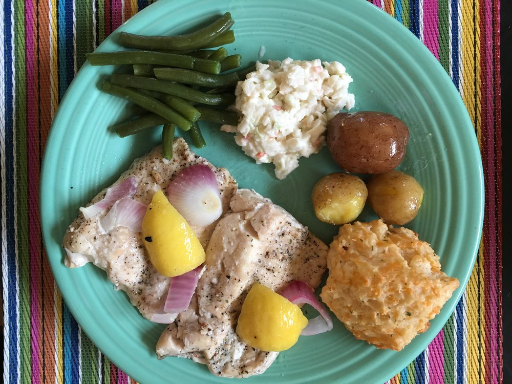 lake trout dinner