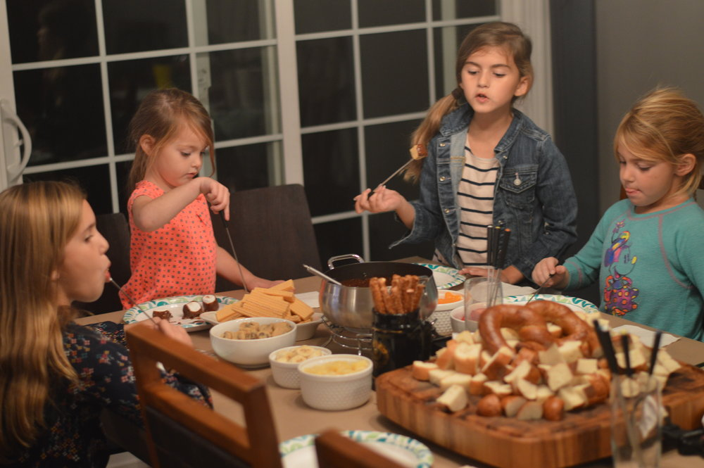 kids fondue party