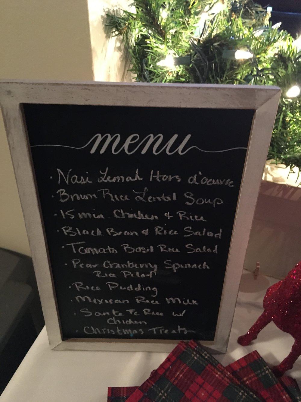 vintage minute menu