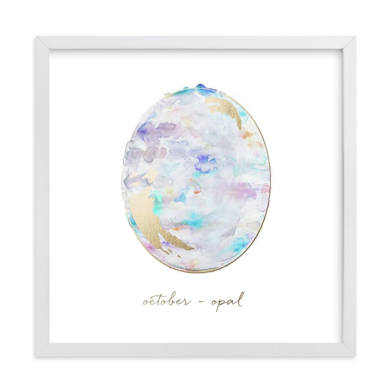 Minted Birth Stone Print