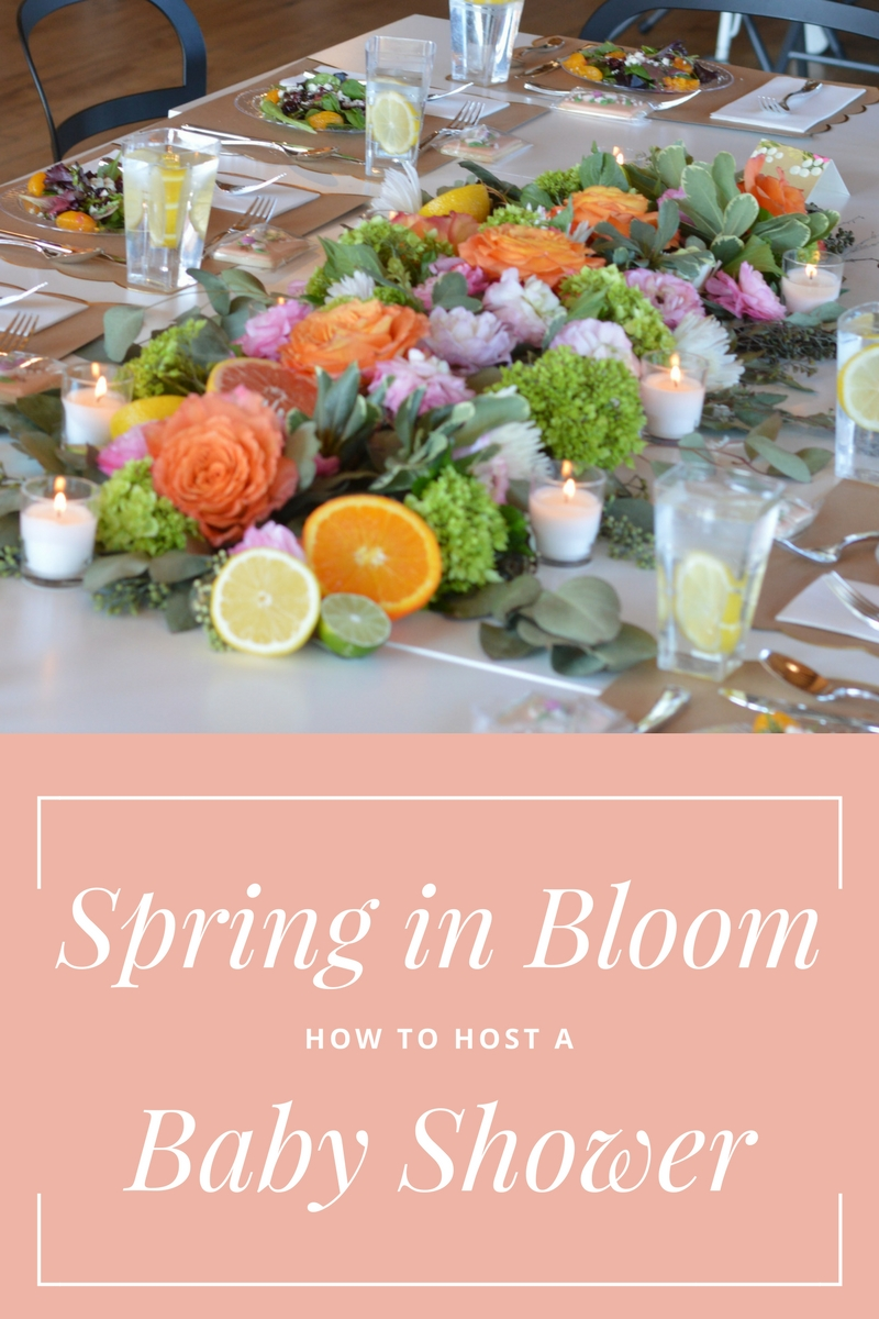 HOW TO HOST A SPRING IN BLOOM BABY SHOWER