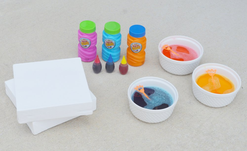 bubble painting for toddlers