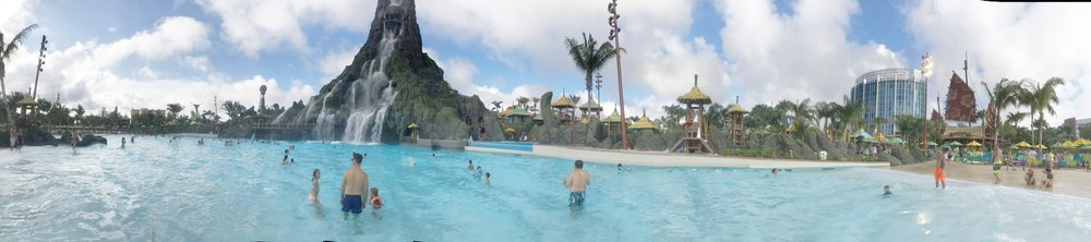 Volcano Bay with toddlers