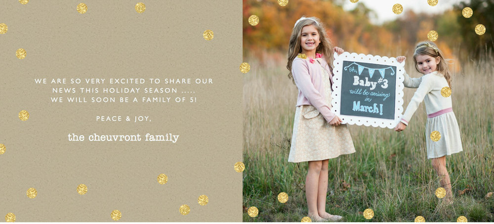 Share Big News in Your Holiday Cards