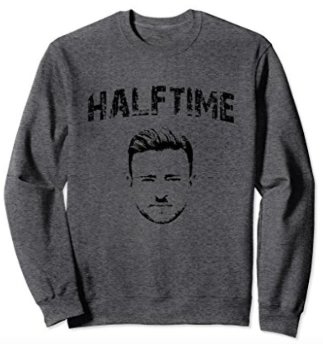 JT halftime sweatshirt