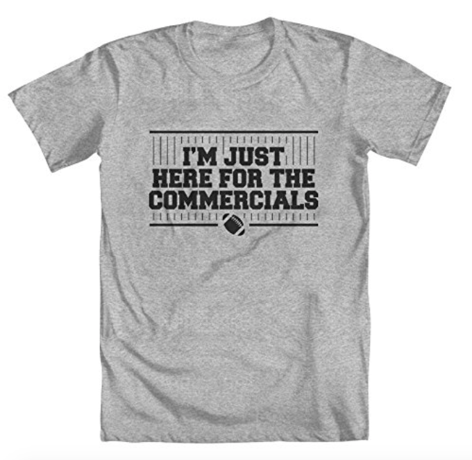 here for the commercials shirt