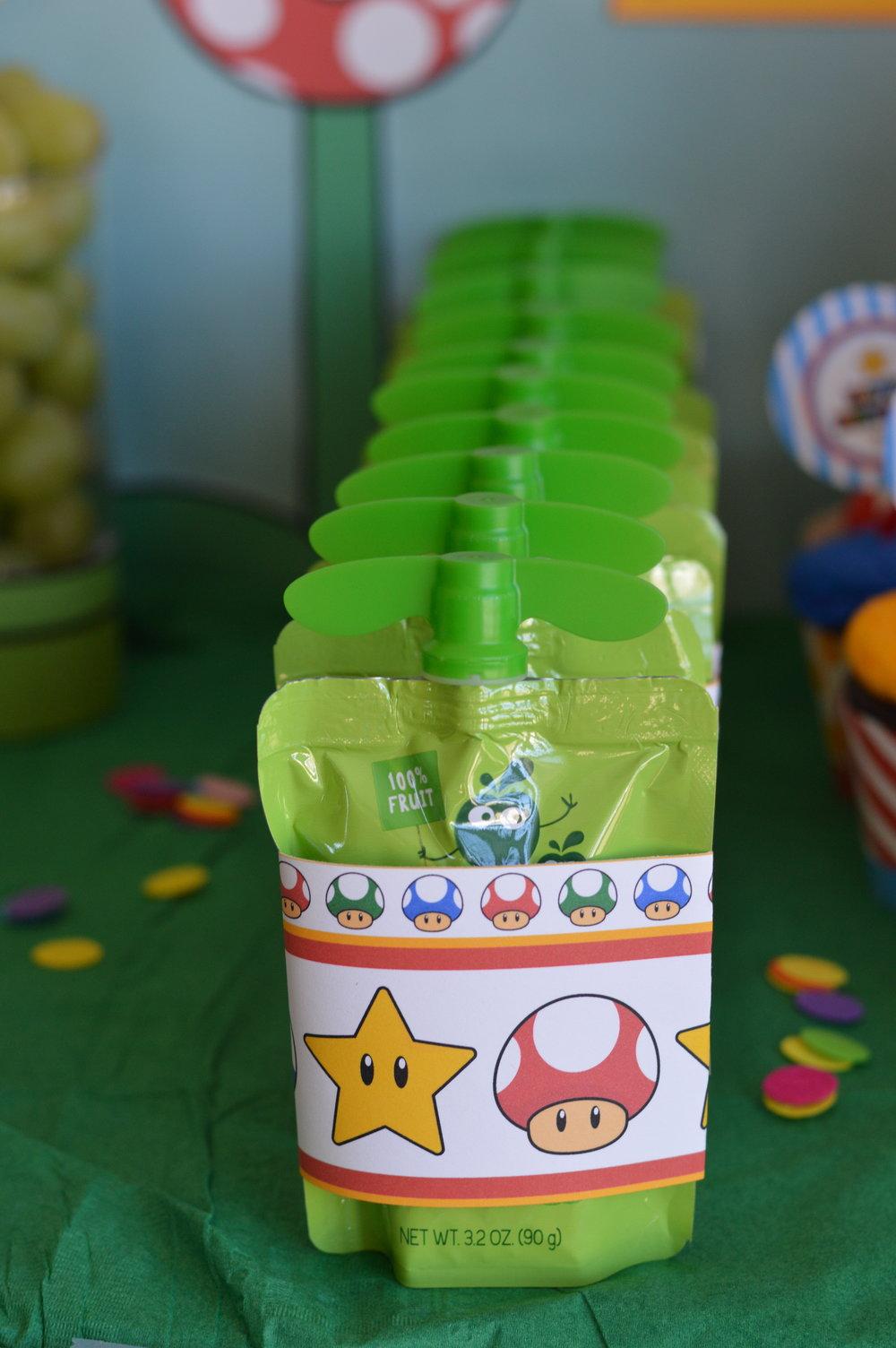 Mario party snack ideas