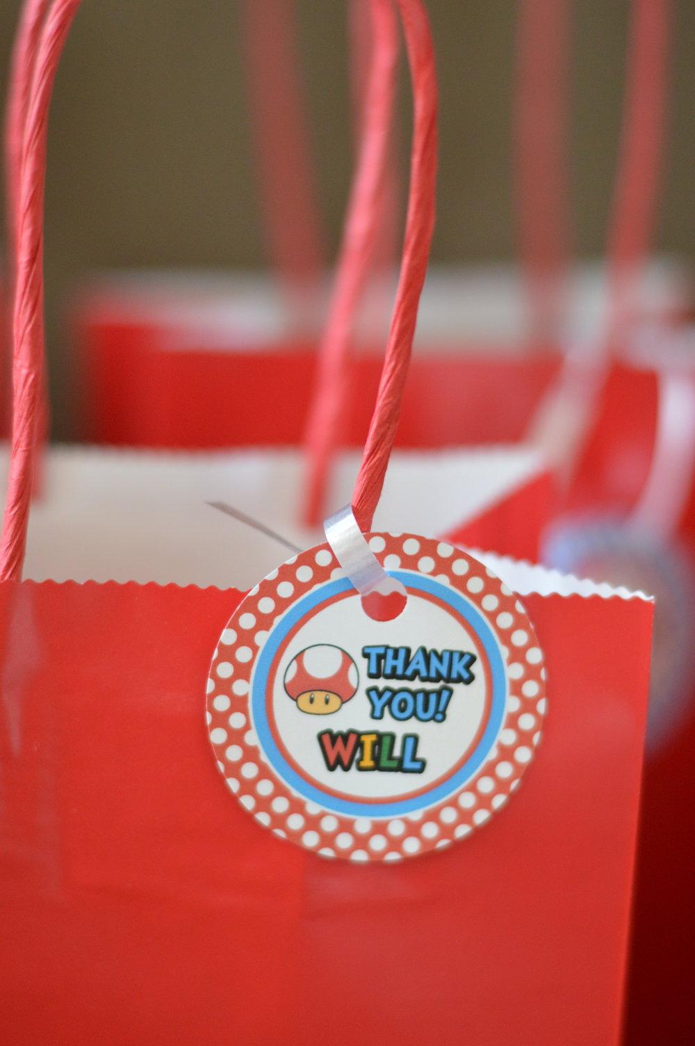 Mario party goody bags