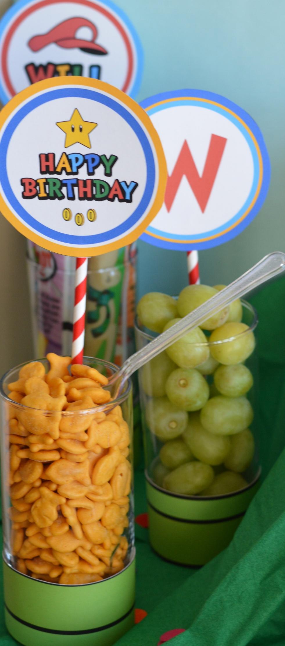 super Mario birthday party snacks