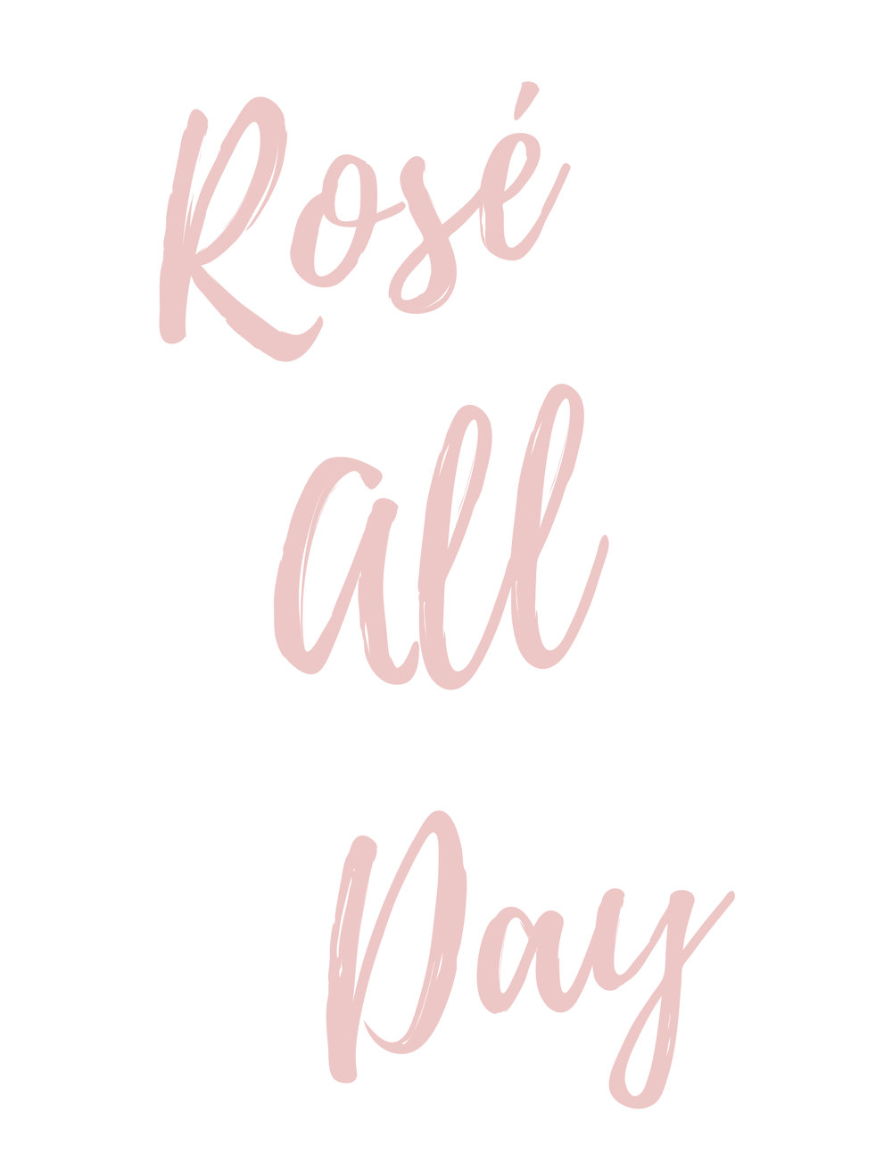 Free Printable Rosé All Day Sign