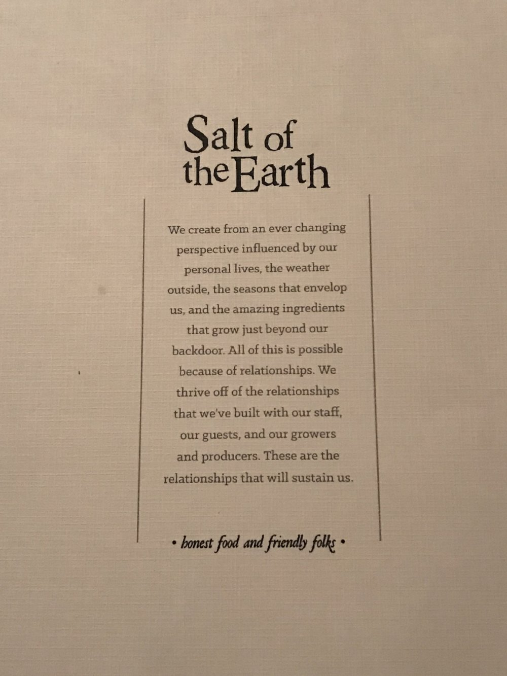 Salt of the Earth Fenville