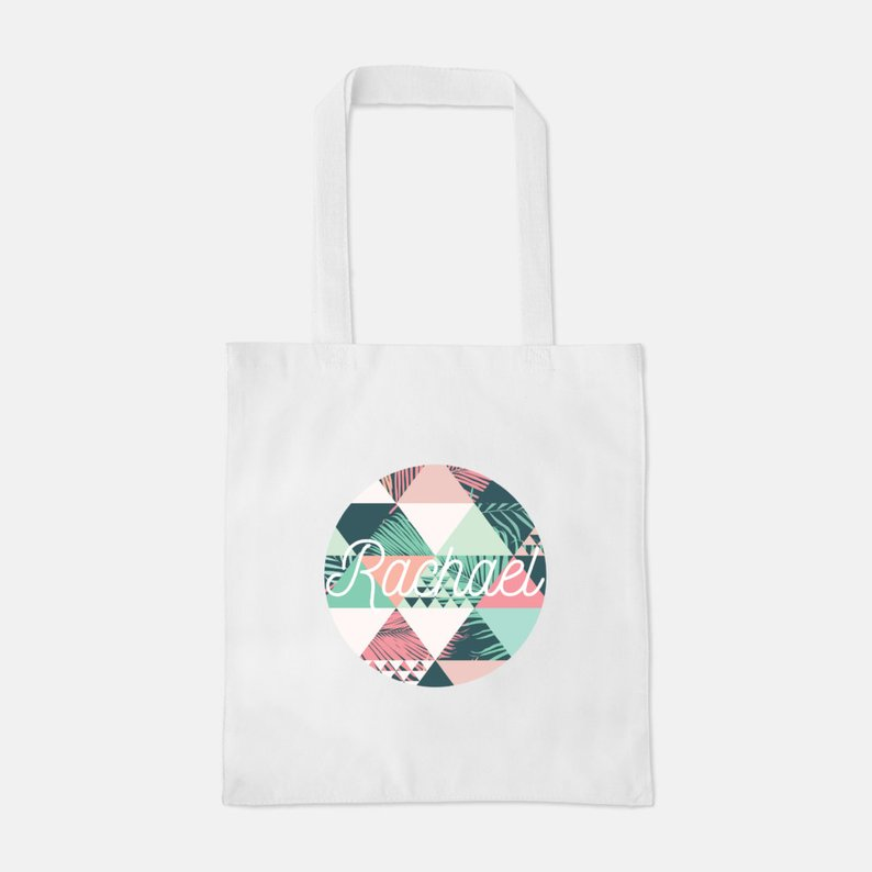 Personalized Palm Print Tote Bag $18