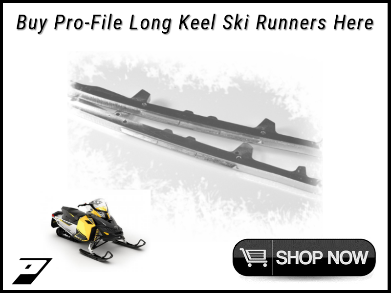 Ski doo pilot 5.7 and Ds-2 snowmobile carbide runners