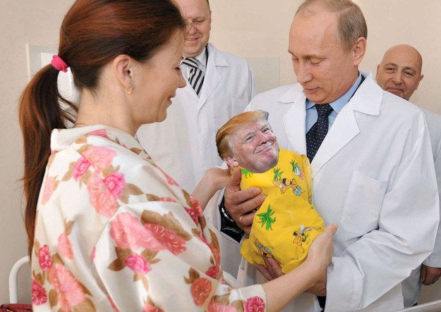Proud Putin, delivering evil....