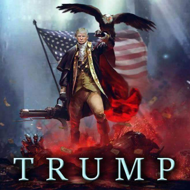 There he goes...making America great again....
