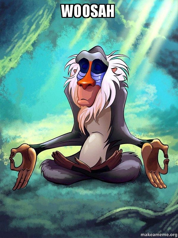 Gotta find dat inner peace mane