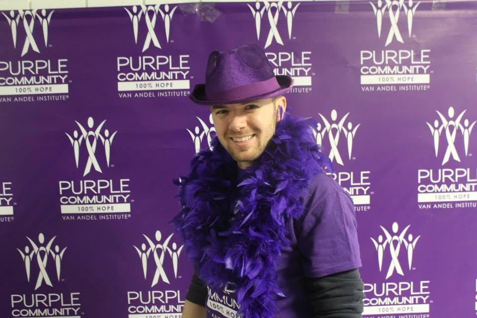 Supporting the Van Andel Institute's Purple Community initiative.