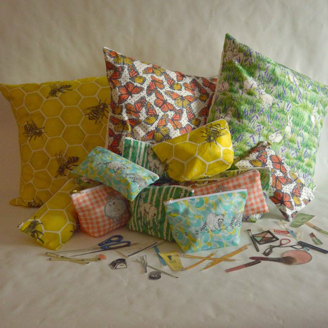 Pillows and bags by Gold & Ginger