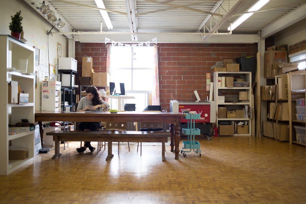 Ali in her studio.