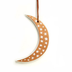 Porcelain moon ornament