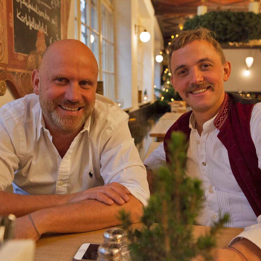 Ihre Wirtsleute Stephan Alof und Fabian Stingl