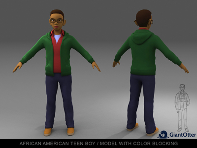 First render of a character from our school simulation. (credit: Turnstyle Studios)